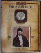 Lot 2: 1896 MORGAN Silver Dollar PCS Legends of West Coin & Stamp WILD BILL HICKOK