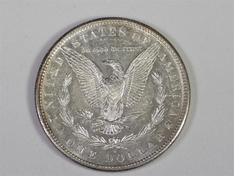 Lot 3: 1881 S Uncirculated MORGAN Silver Dollar - 1881-S UNC - Toning