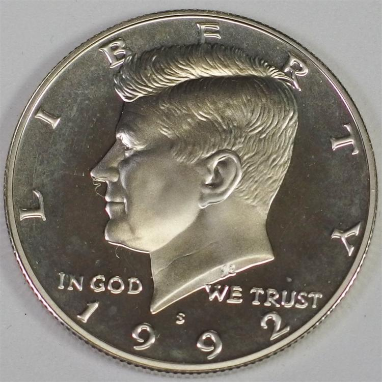 1992 S 90% Silver GEM CAMEO Proof KENNEDY Half