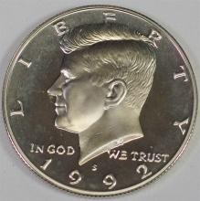 Lot 4: 1992 S 90% Silver GEM CAMEO Proof KENNEDY Half