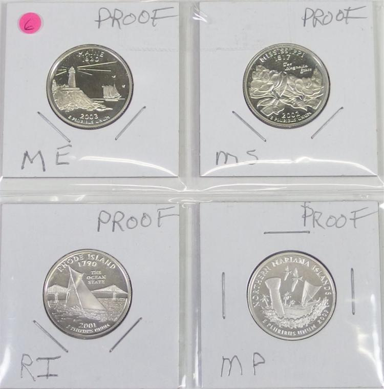 State Quarters 90% Silver Proof Set of 4