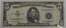 Lot 16: Five Dollar ($5) SILVER Certificate
