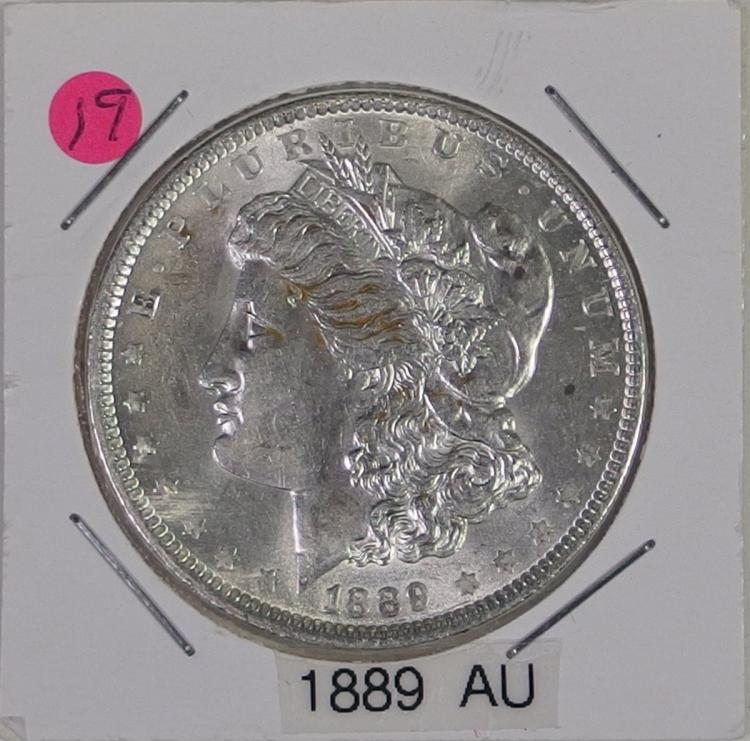 1889 AU Morgan Silver Dollar