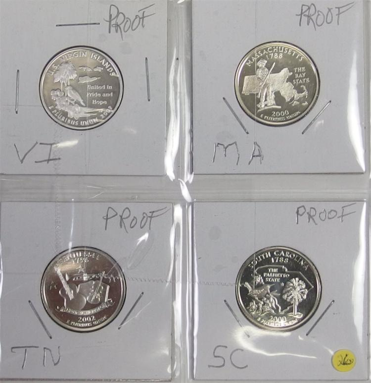 Statehood Quarters 90% Silver Proof Set of 4