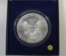 Lot 31: 1999 Colorized .999 Silver American Eagle in Case