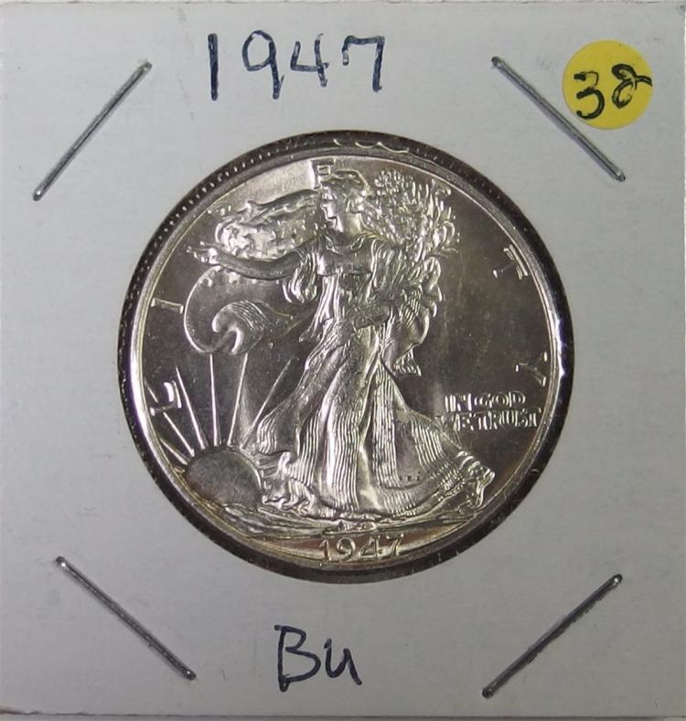1947 BU Silver WALKING LIBERTY Half Dollar