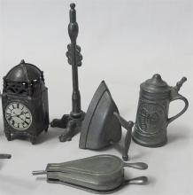 Lot 36: Collection of Pewter Miniature Household Items, Made in England, 11 pc.