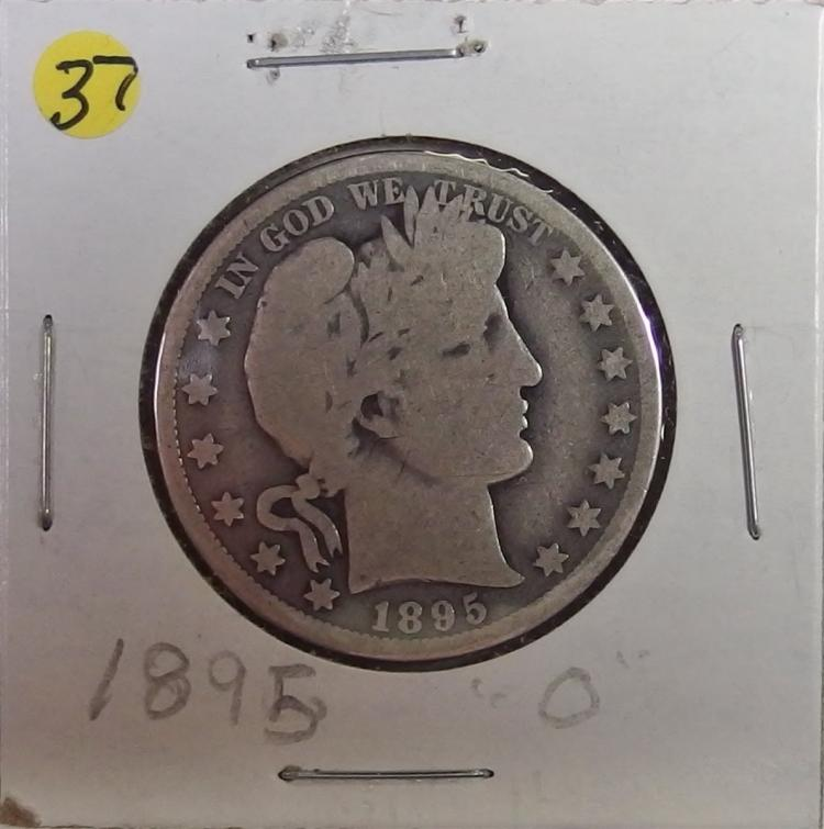 1895-O BARBER Silver Half