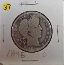 Lot 37: 1895-O BARBER Silver Half