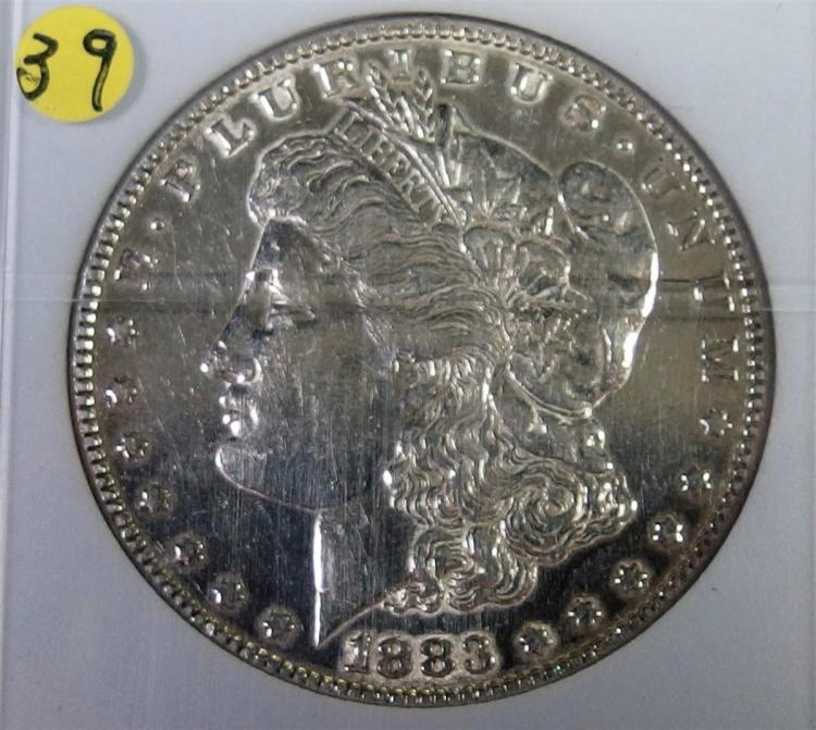 Lot 39: 1883 MORGAN Silver Dollar in Case