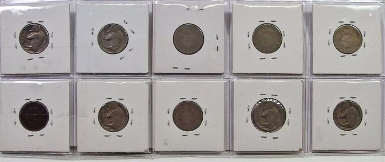 Lot 41: 10 Buffalo and Victory Nickel Set