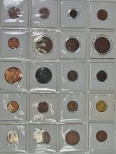 Lot 48: Set of Cent Coins from Around the World, Nice collection