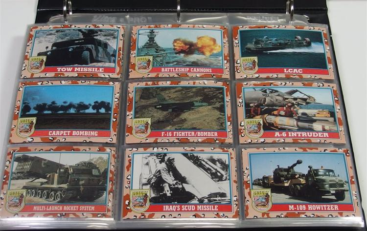 Collection of Desert Storm Cards