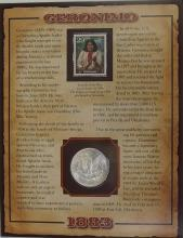 Lot 50: 1883 MORGAN Silver Dollar - PCS Legends of West Coin & Stamp - GERONIMO