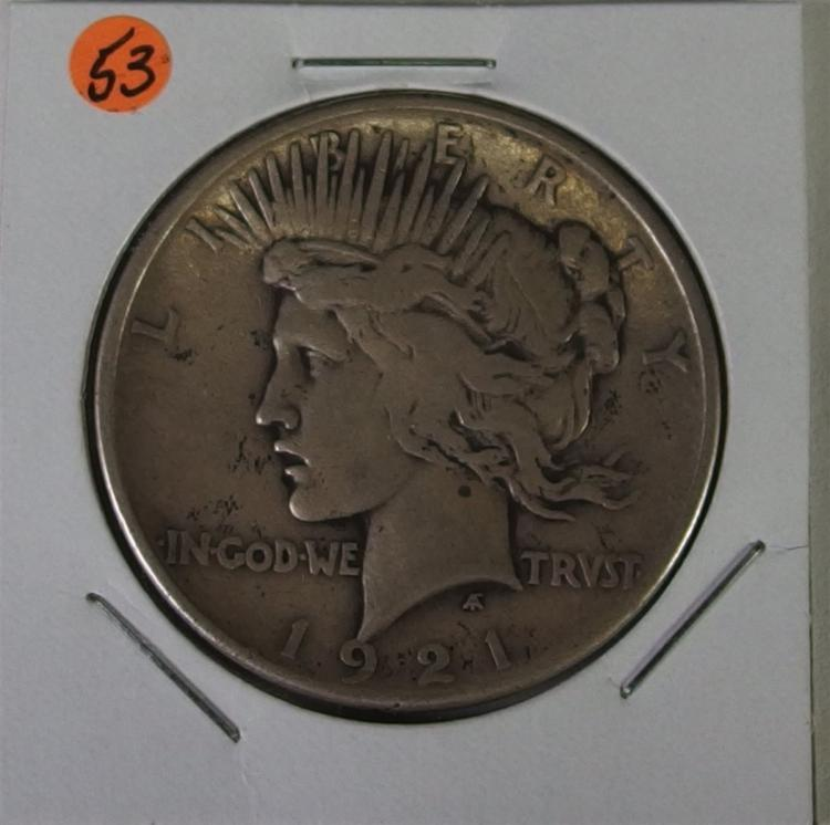 1921 PEACE Silver Dollar, Rarest of all Peace Dollars