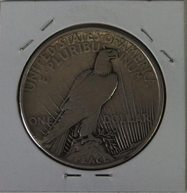 Lot 53: 1921 PEACE Silver Dollar, Rarest of all Peace Dollars