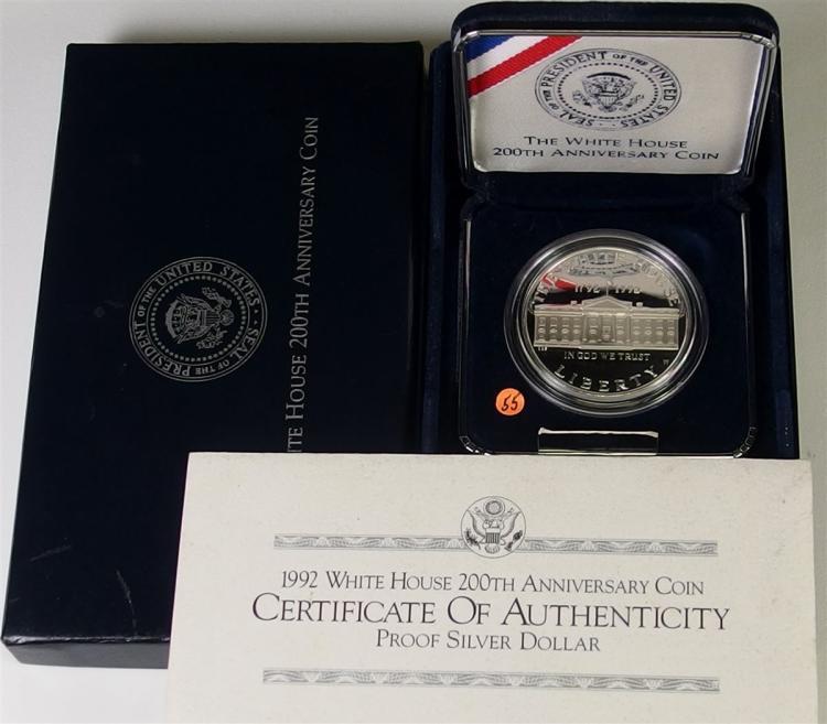 1992 90% Silver Dollar White House Coin