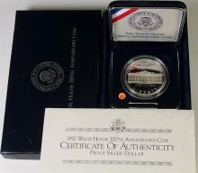 Lot 55: 1992 90% Silver Dollar White House Coin