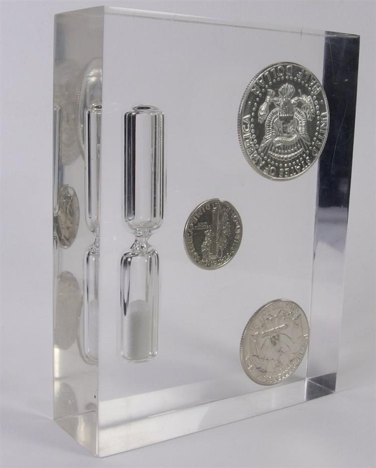 Lot 59: Sand Timer with 90% Silver Coins