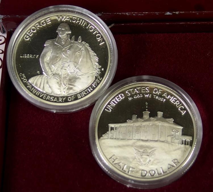 Lot 62: Lot of 2 - Proof 90% Silver Washington Half Dollars