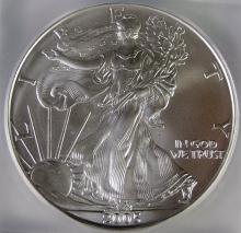 Lot 70: 2005 Silver Eagle Graded MS 70