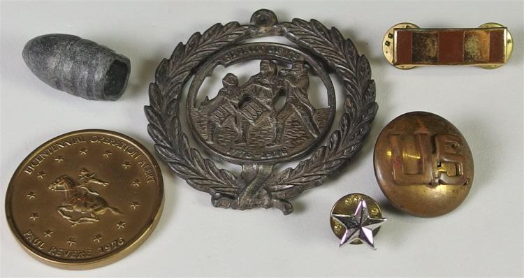 Collection of Civil War and Military Items