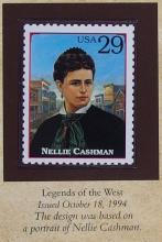 Lot 73: 1898 MORGAN Silver Dollar - PCS Legends of West Coin & Stamp NELLIE CASHMAN