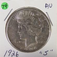 Lot 74: 1926-S Silver PEACE Dollar