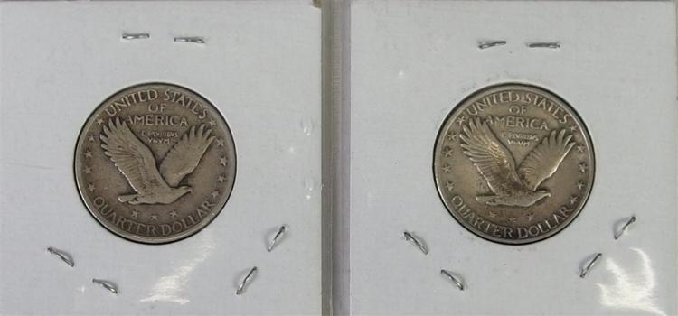Lot 75: 1927 & 1930 STANDING LIBERTY Quarters, very nice