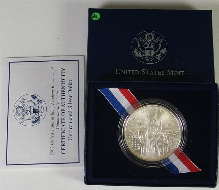 2002 90% Silver Dollar Honoring West Point