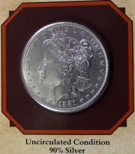 Lot 82: 1881S MORGAN Silver Dollar - PCS Legends of West Coin & Stamp - WYATT ERP