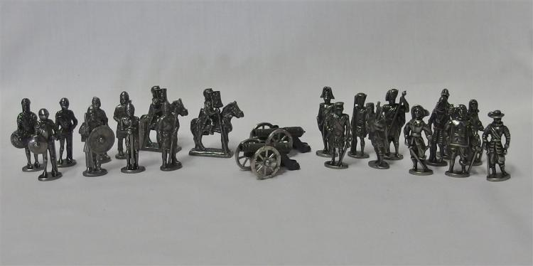Pewter Soldiers with Cannons