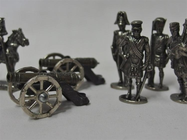 Lot 84: Pewter Soldiers with Cannons