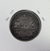 Lot 93: 1893 Columbian Silver Half Dollar