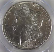 Lot 99: 1890 MORGAN Silver Dollar PCGS Graded & Cased