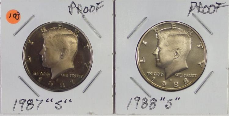 2 Proof S Mint KENNEDY Half Dollars