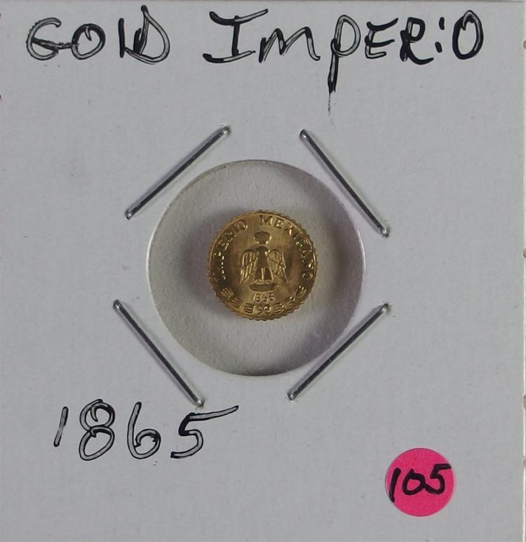1865 Mexican 24K Gold Imperious