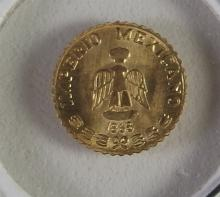 Lot 105: 1865 Mexican 24K Gold Imperious
