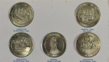 Lot 107: Lot of 5 - Coins honoring Charleston SC Bicentennial