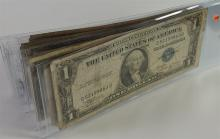 Lot 109: Lot of 10 - Silver Certificates, nice mix of dates and mints
