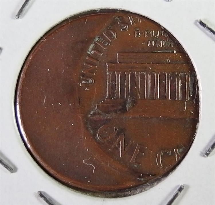 Lot 111: SEVERE Mint Error of a Lincoln Cent