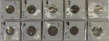 Lot 114: Lot of 10 - Buffalo and Victory Nickels