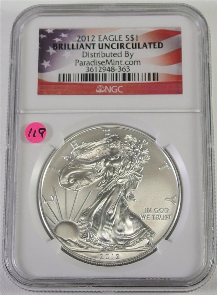 2012 .999 Silver Eagle, NGC Graded
