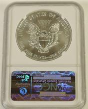 Lot 119: 2012 .999 Silver Eagle, NGC Graded
