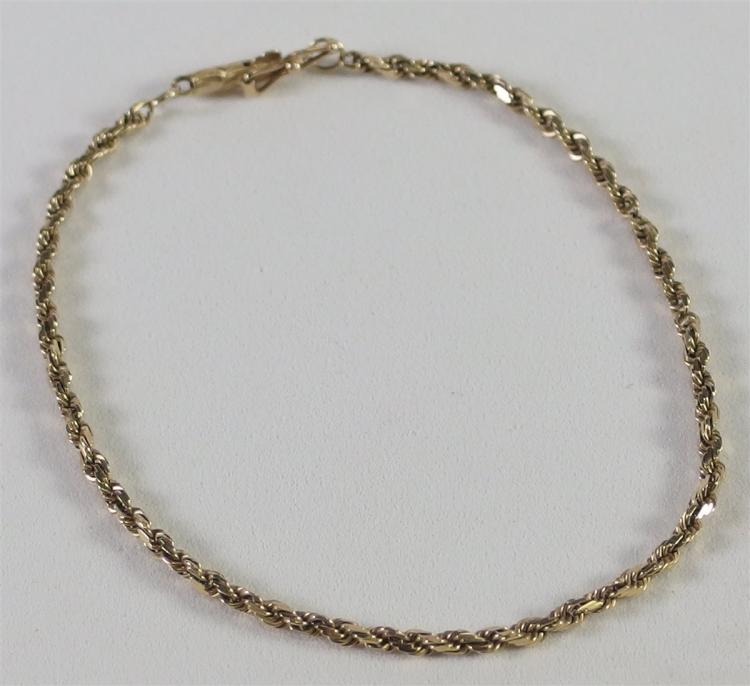 Lot 120: 14K Gold Bracelet 3.0 gr