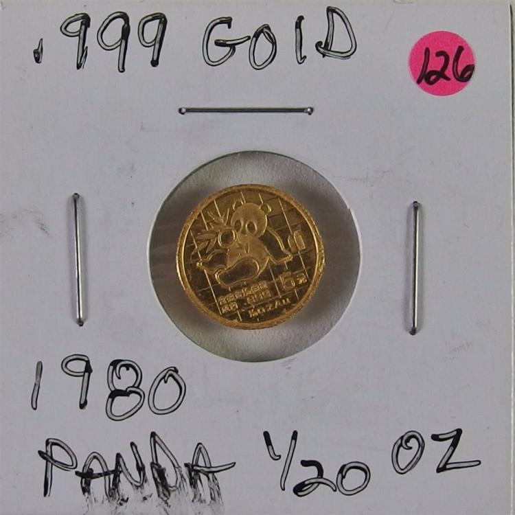 .999 Gold 1980 Panda 1/20 oz