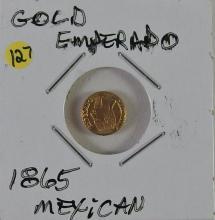 Lot 127: 1865 Mexican Gold Emperado
