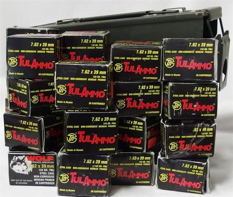 460 Rounds 7.62x39mm Plus Ammo Box
