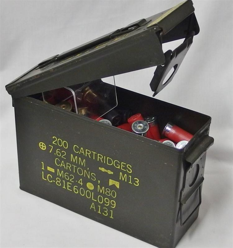 100+ 12ga Shotgun Shells Plus Ammo Box