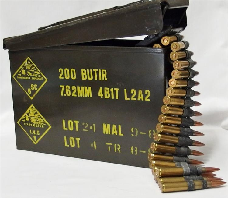 Lot 8Q: 200 Rounds 30-06 WWII Machine Gun Linked